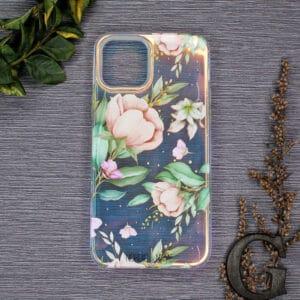 iPhone 12/12 Pro - Holografisk Blomster