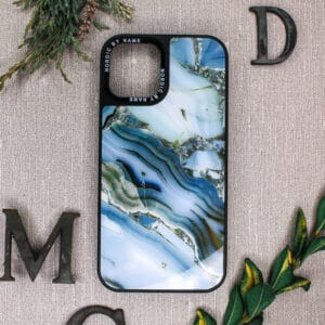 iPhone 12 Pro Max - Akryl Blå Granit