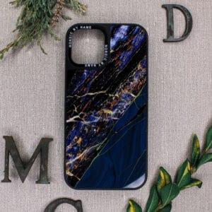 iPhone 12 Pro Max - Akryl Mørkeblå Granit