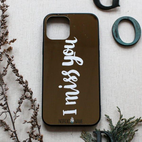 """iPhone 12 Mini - Spejl """"Miss You"""""""