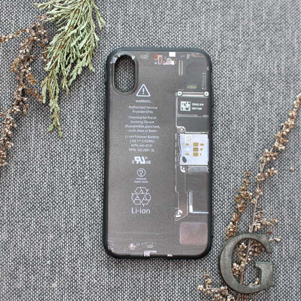 """iPhone X/XS bagside , Mobil """"indmad"""""""
