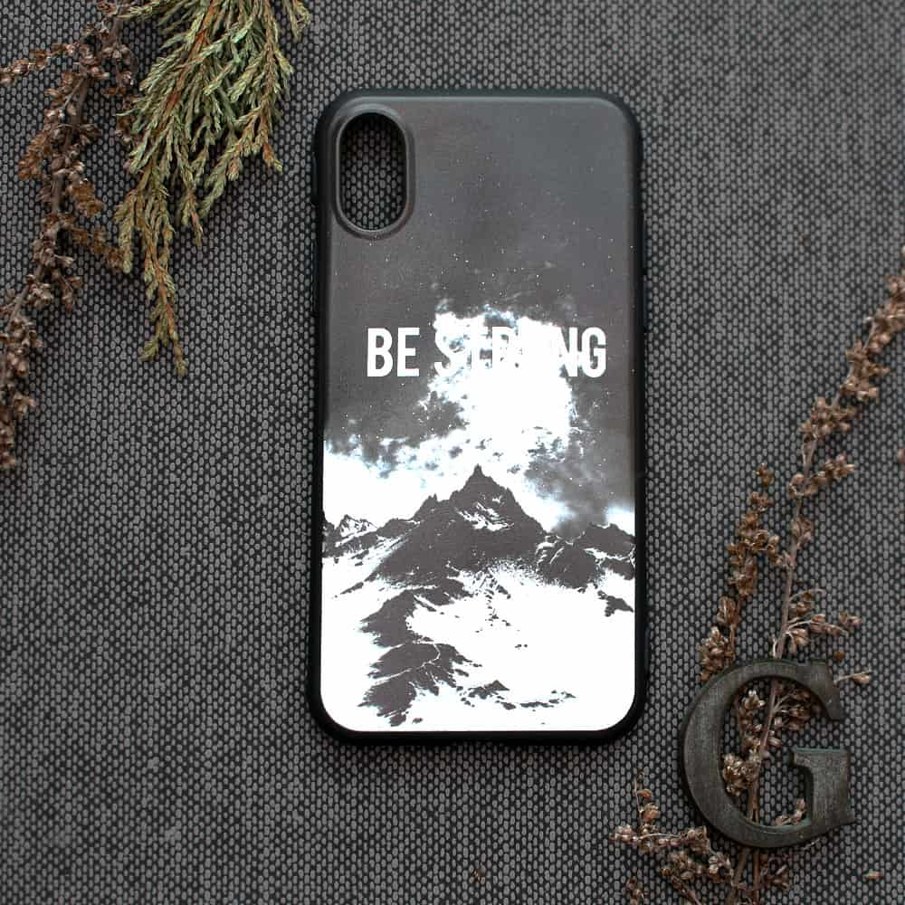 iPhone XR bagside , Be strong