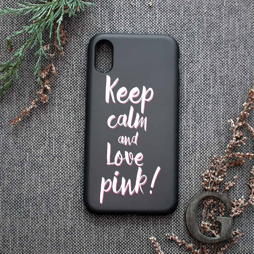 iPhone XR bagside , keep calm
