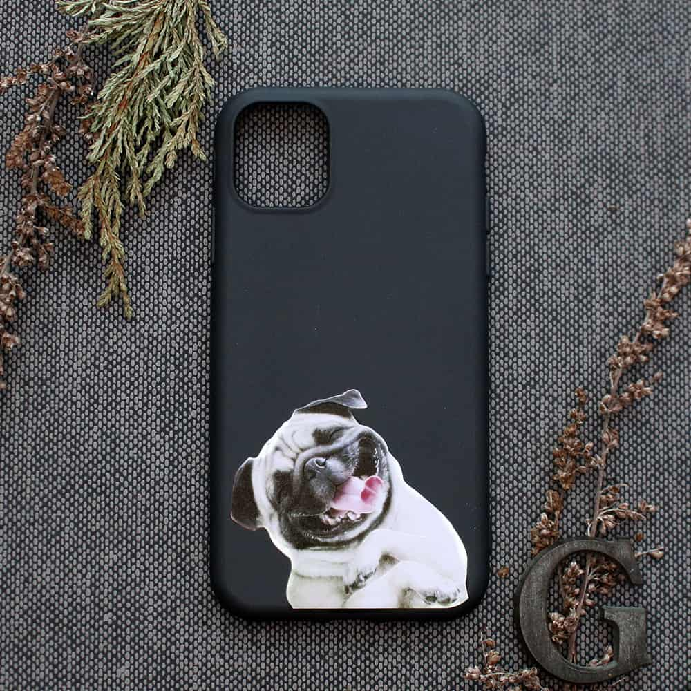 iPhone 11 Pro bagside , Mops