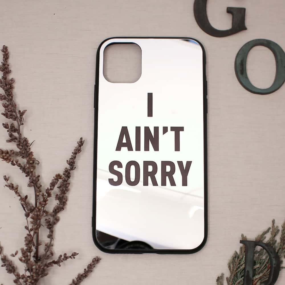 iPhone 11 bagside med spejl effekt, I ANT SORRY
