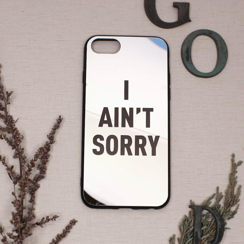 iPhone 7/8/SE2020 bagside med spejl effekt, I ANT SORRY