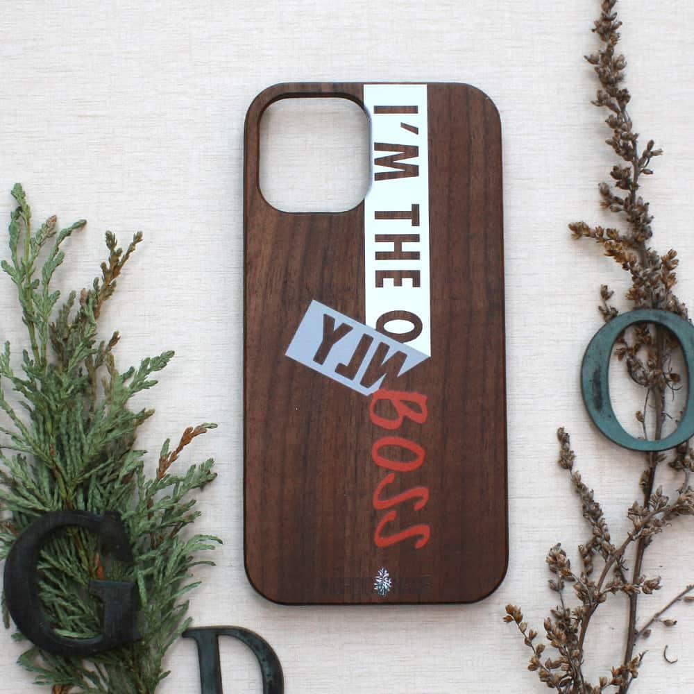 iPhone 12/12 Pro bagside i træ, I am the