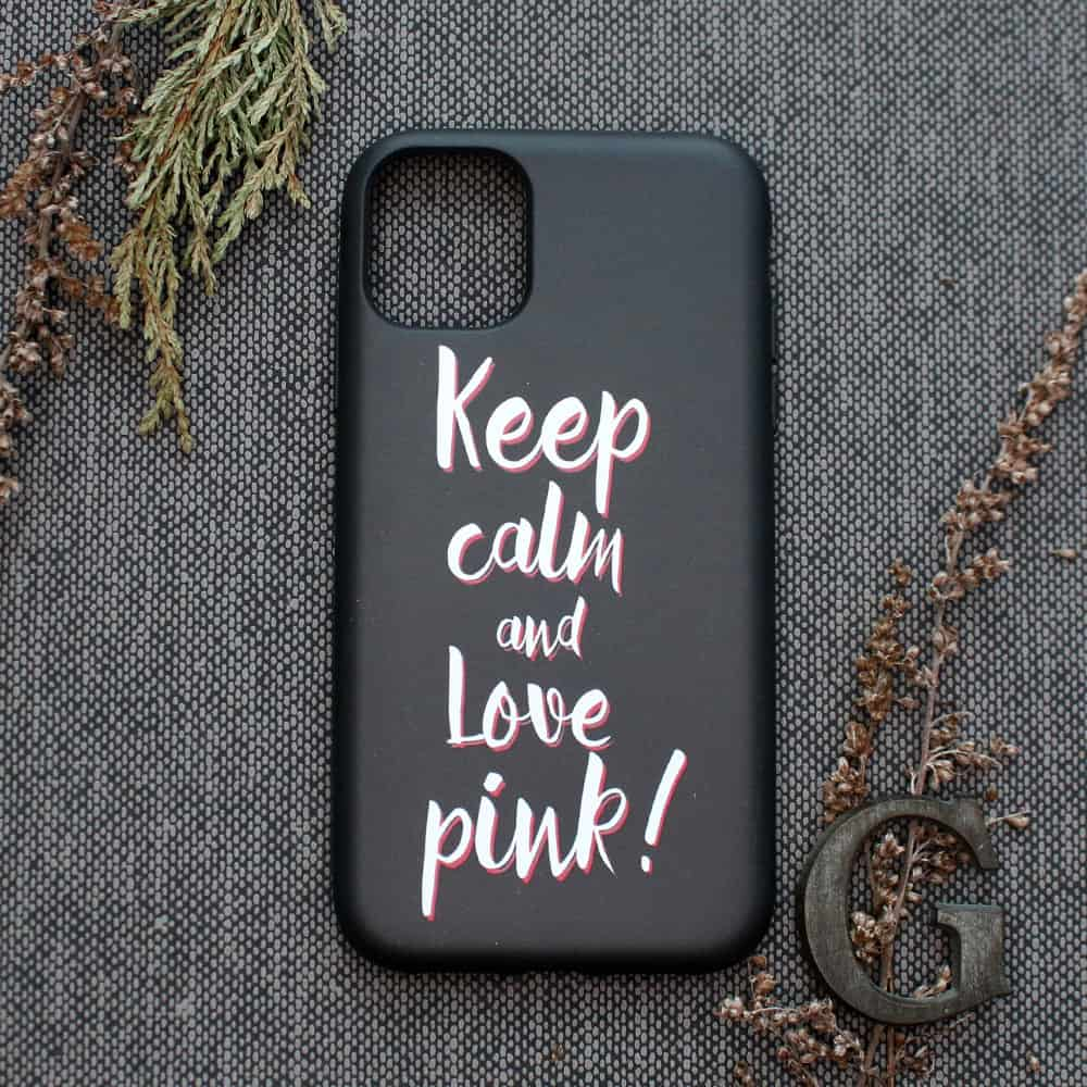 iPhone 11 Pro bagside , keep calm